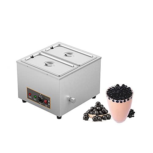 Máquina de calentamiento de bolas perlas té de leche comercial,ajuste de temperatura de 30~95 °, calentador constante de alimentos,bolas de taro de sago y olla de sopa perlas tapioca