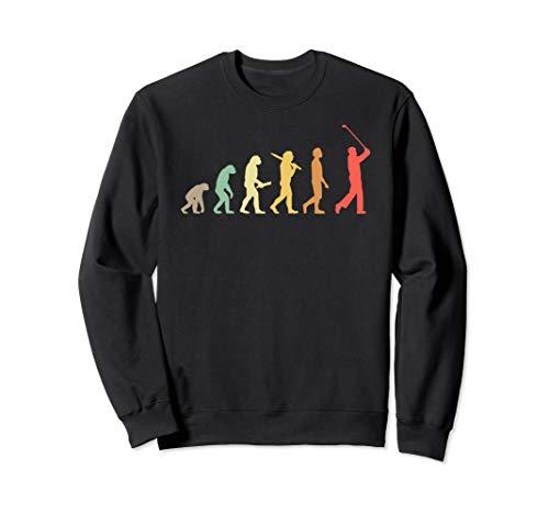 Retro Golf Evolution Geschenk für Golfer & Golfspieler Sweatshirt