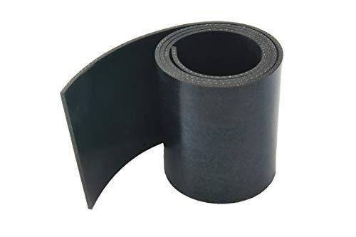 Gummistreifen mit Gewebe - 3mm stark - in verschiedenen Größen zur Auswahl | Industriequalität (1000x40x3mm)