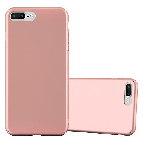 Cadorabo Apple iPhone 8 Plus / 7 Plus / 7S Plus Funda de Plástico Duro Metal Mate en Metal Oro Rosa Cubierta Protectora Super Delgada e Inflexible con Antichoque Case Cover Carcasa Protección Ligera