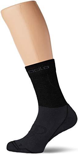 Odlo CERAMIWARM Chaussettes Longues Mixte Adulte, Black/Odlographitegrey, FR : L (Taille Fabricant : 42-44)