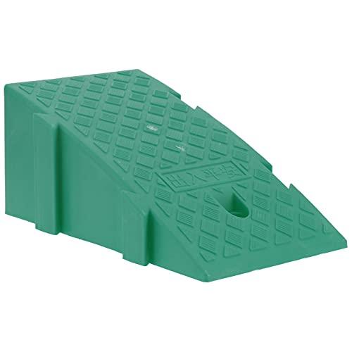 Duokon Rampa de bordillo de Carga Práctico bordillo de plástico Resistente, para Silla de Ruedas, Scooter, Motocicleta, Coche, 43,3x24,5x18,5 cm(Verde)