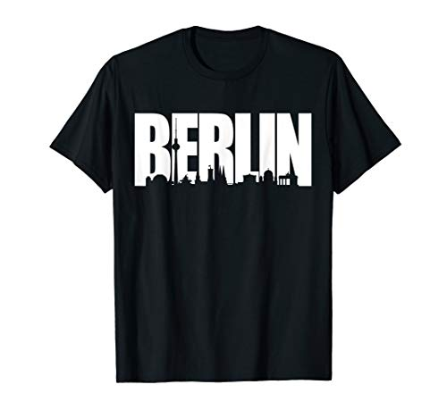 Berlin Skyline Shirt, Stadttour Geschenk Shirt