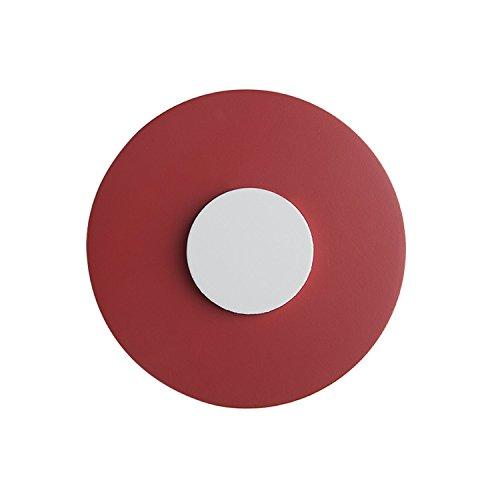 Lorena Canals - mango Muebles redondo rojo y blanco (paquete de 2) - Rojo
