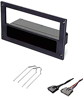 ASC Car Stereo Install Dash Kit and Wire Harness for Installing an Aftermarket Single Din Radio for 1987 1988 1989 1990 1991 1992 1993 Ford Mustang