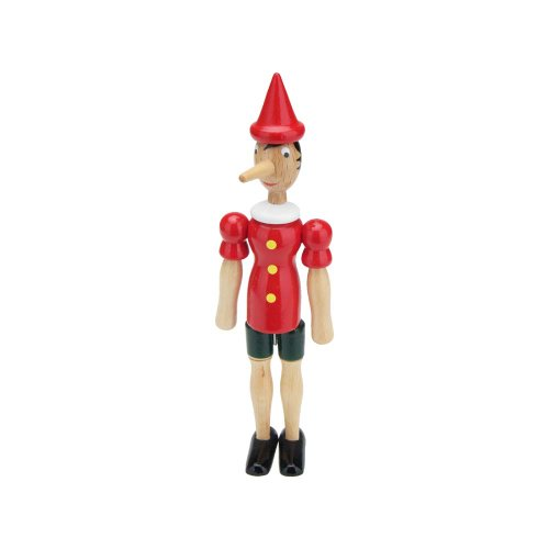 toys-for-all Pinocchio Gelenkfigur aus Holz, Länge 24 cm- Made in Italy- 9011