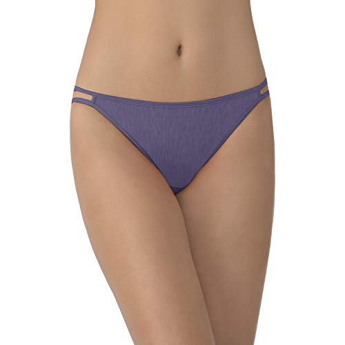 Vanity Fair Damen Illumination Panty 18108 Unterwäsche im Bikini-Stil, Blau-Anthrazit, Large (7 US)