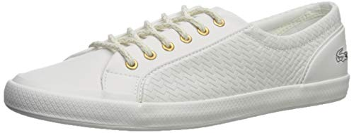 Lacoste Women's Lancelle Sneakers White, 9.5 Medium US