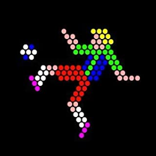 IllumiPeg Sports Refill templates for Lite Brite Cube, Flat-Screen, and Four Share (10 Sheets, 7x7)
