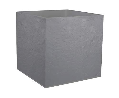 EDA - Vaso quadrato Volcania, colore: Grigio