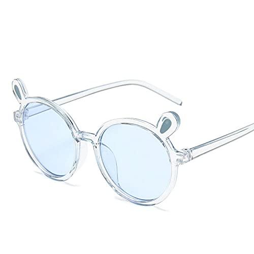 Powzz ornament Encantadoras gafas de sol para niños Gafas de sol redondas para niños Gafas clásicasGafas rosadas para niño niña-T-azul