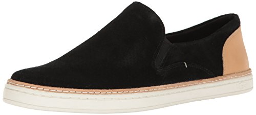 UGG Women's Adley Perforated Fashion Sneaker, Black, 10 M US