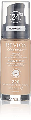 Revlon ColorStay Base de Maquillaje para Piel Mixta/Grasa, Beige Natural - 30 ml