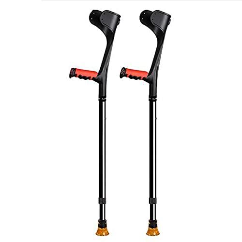 FHISD Muletas axilares para Adultos muletas de antebrazo muletas de Aluminio ultraligeras Asistencia Ajustable en Altura con Mango cómodo-2 Piezas Azul