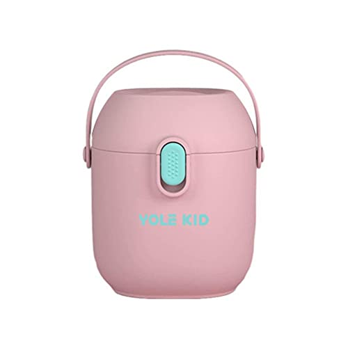 PUNELE Dispensador de leche en polvo para bebés, 450 ml, portátil, caja de leche para bebés, dispensador de polvo con cuchara, contenedores de almacenamiento de alimentos para bebés