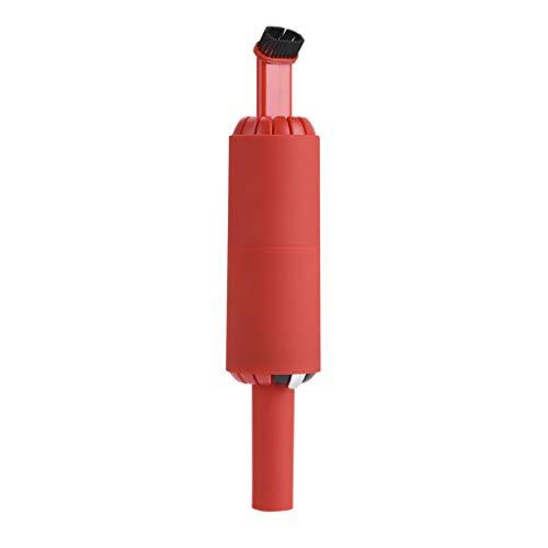 Handstaubsauger Akku Staubsauger Kabellos beutel kabelloser Staubsauger Mini Elektrobürste Fugendüse Autostaubsauger für Auto Zuhause Tierhaare (Rot)