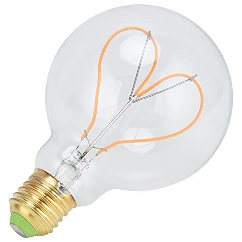 Lampadina E27, lampadina dimmerabile che brilla brillantemente per utensili elettrici per parti di lampade da esterno per parti di lampade per lampade domestiche(trasparente, rosa)