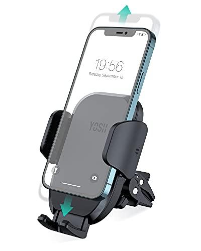 YOSH Soporte Móvil Coche Rejillas del Aire 360 Grados Rotación Soporte Teléfono Coche Ventilación para iPhone 12 11 XS XR X 8, Pixel, Samsung S21 S20 A71, Xiaomi Redmi, GPS etc.