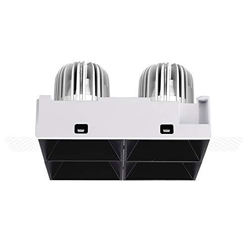 GLBS 4 * 8W Cuatro Cabezas Protección For Los Ojos Square COB Foco Empotrado Destacado del Hogar Luz De Techo Sin Montura Sin Empotrar Empotrable Ajustable For Negocios Luz De Panel De Techo LED