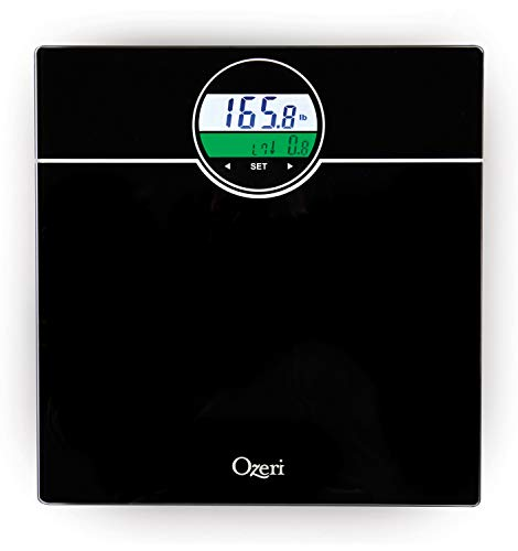 Ozeri ZB21 WeightMaster 400 lbs Digital Bath Scale with BMI and Weight Change Detection, Black