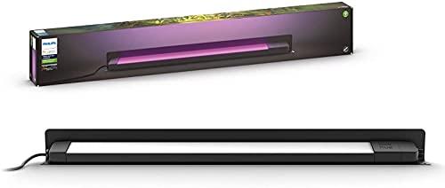 Philips Hue Amarant - Lámpara exterior lineal inteligente 15 W, bajo voltaje, 1400 lúmenes, luz blanca y color 2200-6500k, IP65, metal