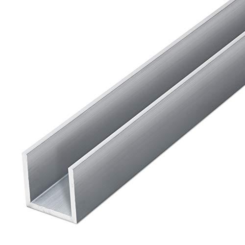 thyssenkrupp U-Profil Aluminium gepresst 15 x 15 x 15 x 2 mm in 2000 mm Länge | Aluprofil U-Profil | EN AW-6060