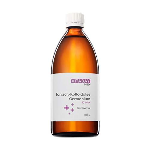 Vitabay Kolloidales Germanium 50 PPM • 500 ml • Hochdosiert • Reinheitsstufe 99,99% • Braunglasflasche