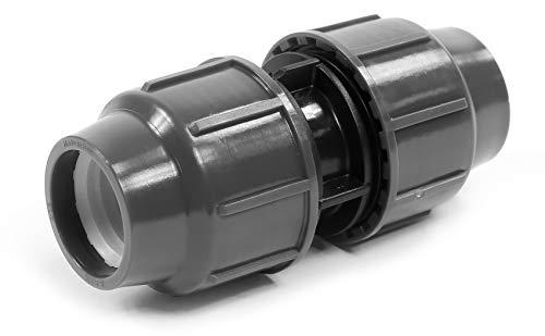 PP connecteur de serrage pour tuyaux en PE 32 mm x 32 mm