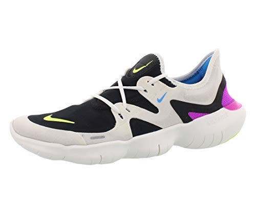 Nike Free RN 5.0 Men's Running Shoe Summit White/Volt Glow-Black-Blue Hero 13.0