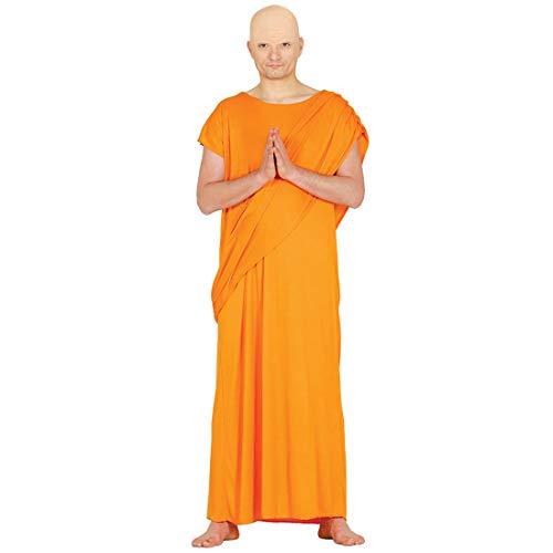 NET TOYS Original Disfraz Monje Budista para Adultos - Naranja L (ES 52/54) - Majestuosa Vestimenta Dalai Lama Disfraz para Caballero - Insuperable para Carnaval y Noches temticas