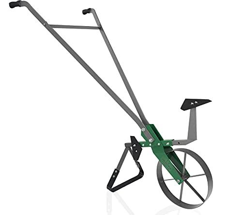 Varomorus High Wheel Cultivator, Self Cleaning Steel Single Wheel Hoe, Modular Plow Garden Tool for Gardening