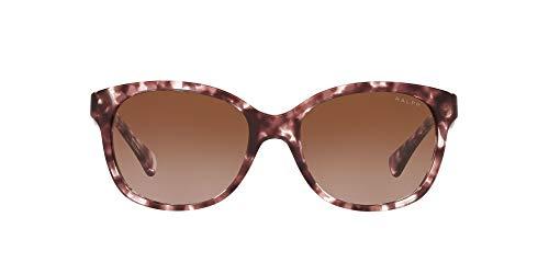 Ralph by Ralph Lauren Gafas de sol Ra5191 Cat Eye para mujer, Gradiente de color marrón y marrón brillante,