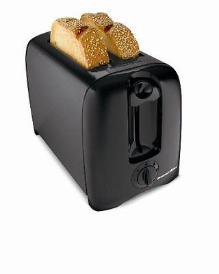 Proctor Silex 2-Slice Toast Boost Shade Selector Crumb Tray Toaster 22612BLK