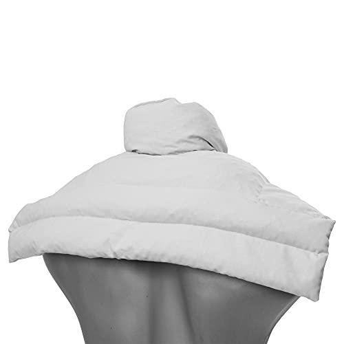 Cuscino termico per collo d'uva, cuscino termico per spalle e collo con colletto, cuscino termico per collo – anima d'uva, bianco