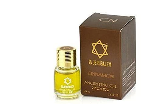 Auténtico aceite de oliva virgen extra puro de la Unción Bendita de Israel aroma único (7.5ml, Cinnamon)