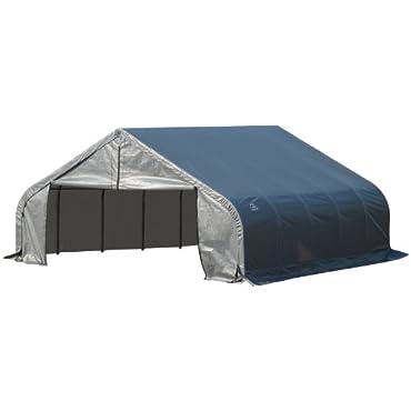 ShelterLogic 80016 Grey 18'x20'x12' Peak Style Shelter