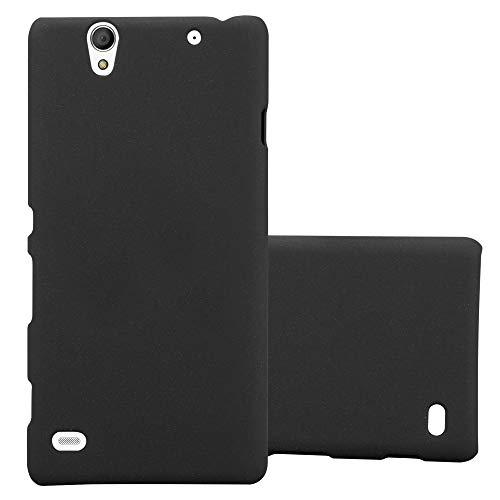 Cadorabo Hülle für Sony Xperia C4 in Frosty SCHWARZ - Hardcase Handyhülle aus Plastik gegen Kratzer & Stöße - Schutzhülle Bumper Ultra Slim Back Hülle Hard Cover