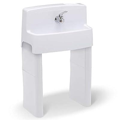 Delta Children MySize 3-in-1 Convertible Sink, Step Stool & Bath Toy for Kids, White