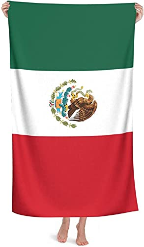 LUYIQ Beach Towels,Microfibre Beach Towels Large,Flag of Mexico,52x32 Inches,Sand Free,Quick Dry,Lightweight Beach Towels for Sports,Swimming,Yoga,Gym,Travel,Camping