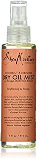 Shea Moisture Coconut & Hibiscus Dry Oil Mist for Unisex, 4 Ounce