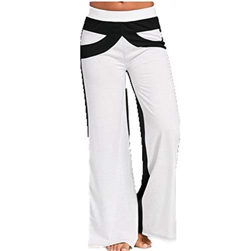 N\P Pantalones casuales de mujer de color a juego con pierna ancha para primavera y verano