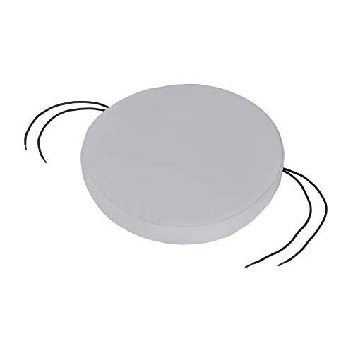 Shopisfy Grey Water Resistant Seat Pads and Cushions for Outdoor Garden/Patio Furniture - Round 15' Bistro Chair Pad