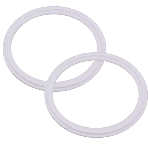 DERNORD Tri-Clamp Gasket PTFE (Teflon) O-ring - 6 Inch Style Fits OD 168MM Sanitary Pipe Weld Ferrule (Pack of 2)