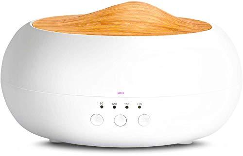 Humidificador Ultrasónico 260ml,Difusor de Aromaterapia,Difusor de Aceites Esenciales,Humidificador de aromas,purificador de aire con LED de 7 colores de para luminoterapia en el Hogar, Oficina,Bebé