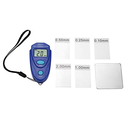 DEWIN Lackdickenmessgerät - Lackdickenmessgerät Mini LCD Digitalanzeige Lackdickenmessgerät Auto Lackdickenmessgerät Messgerät Prüfgerät