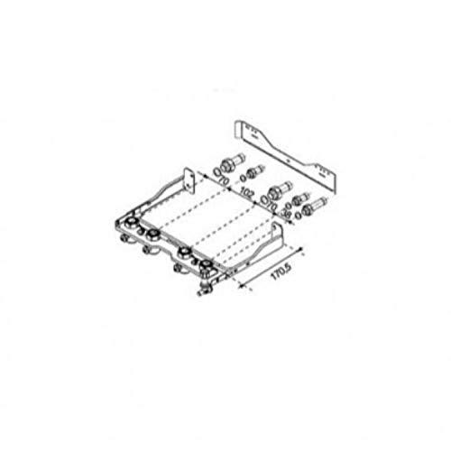 Placa de conexiones para calderas de la serie Isofast Condens F35 E, 6 x 20 x 25 centímetros (referencia: 0020136418)