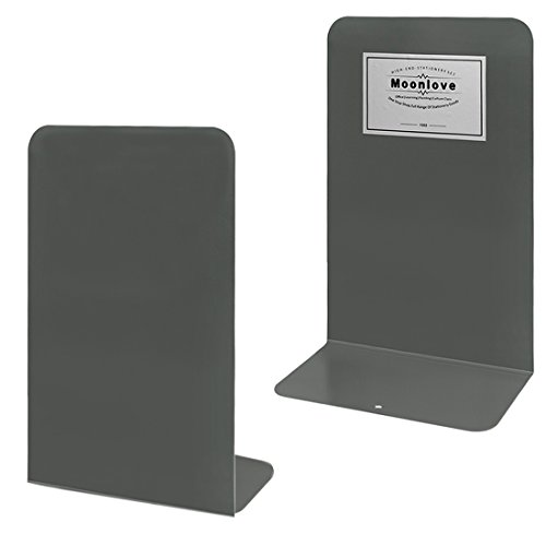 1 Paar Heavy Duty Non-slip Boeken, Metal Book Magazine Kookboek Houder Organizer Rechtopstaande Stand voor Boekenplank Bureau Tafelbed Office School Bibliotheek