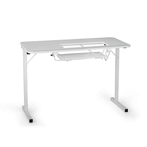 Arrow 601 Gidget I Sew-Much-More Folding Sewing, Cutting, Quilting, and Craft Table, Portable with Lift, White Finish
