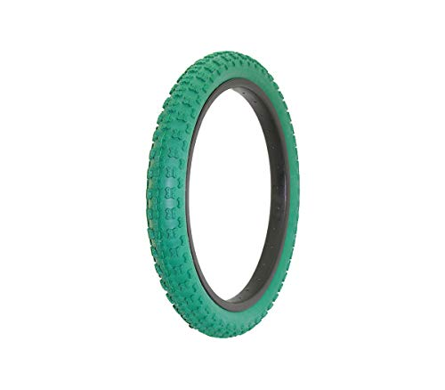 Alta Bicycle Tire Duro 18' x 2.125' Comp 3 Thread Bike Tire, Multiple Colors (Green)