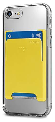 Ringke Kreditkartenfächer, selbstklebend, minimalistisch, dünn, Hartschale, Premium-Kreditkartenhalter, kompatibel mit den meisten Smartphones, Gelb